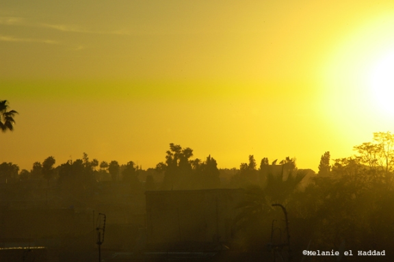 blog morocco sunset marrakech yellow